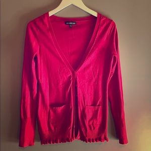Red Express Long Sleeved Cardigan